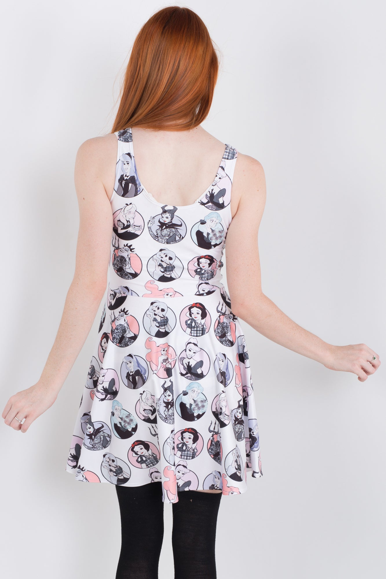 Sticker Skater Dress
