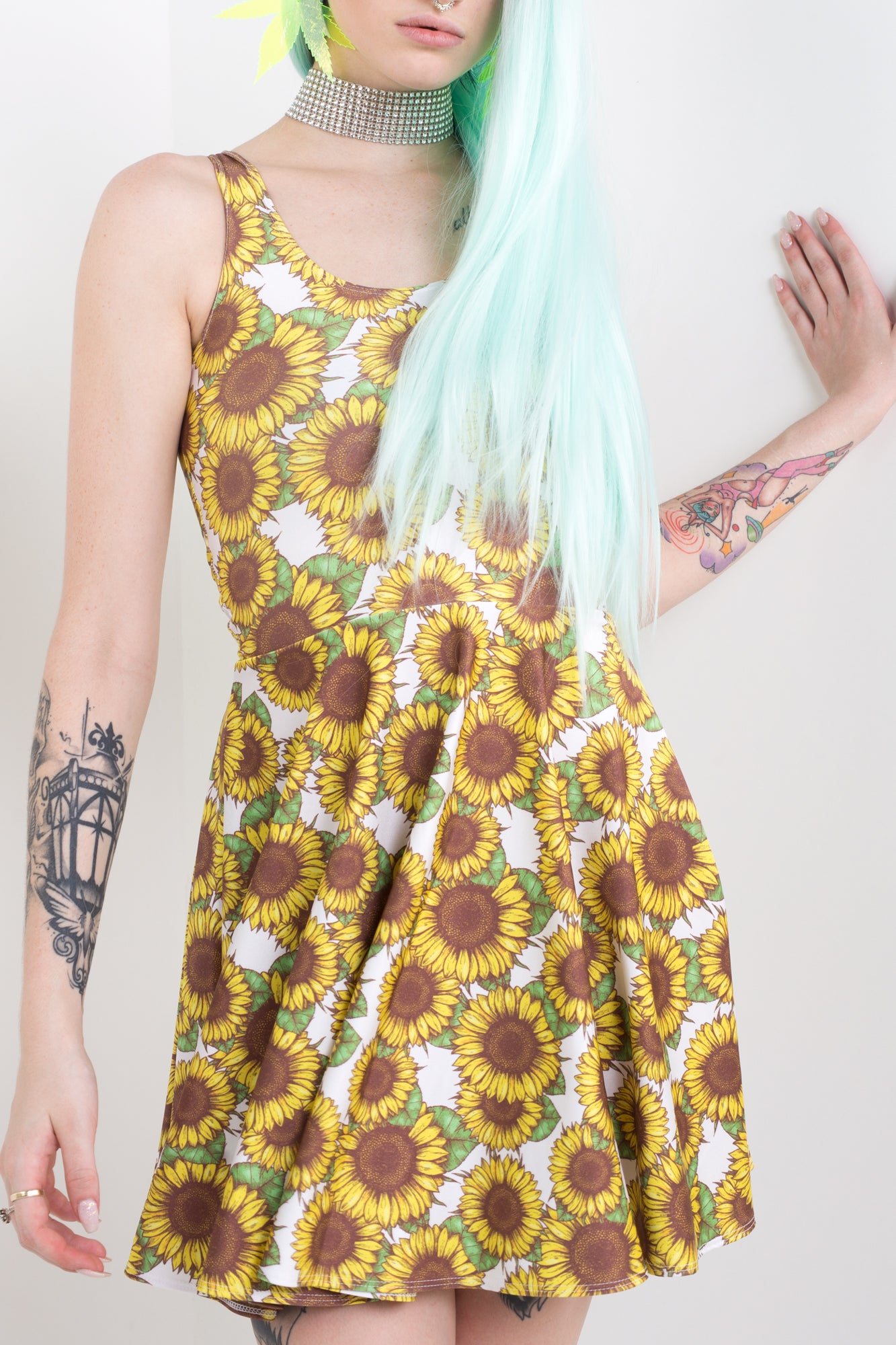 Sunflower Skater Dress