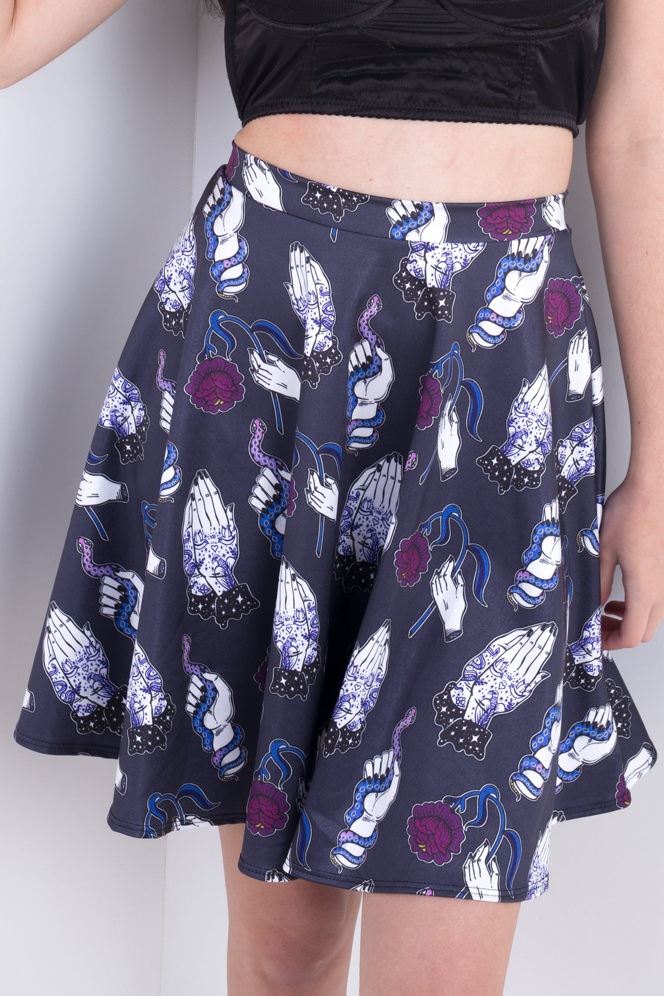 Tattoo Hands Skater Skirt