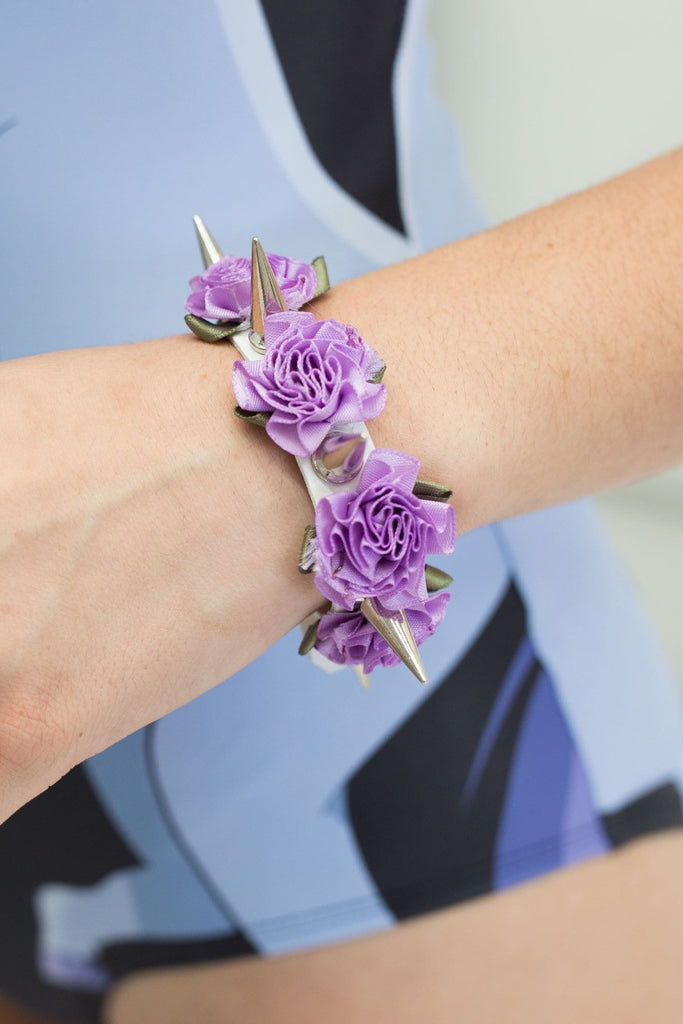 Spikes and Roses Cuff – Purple