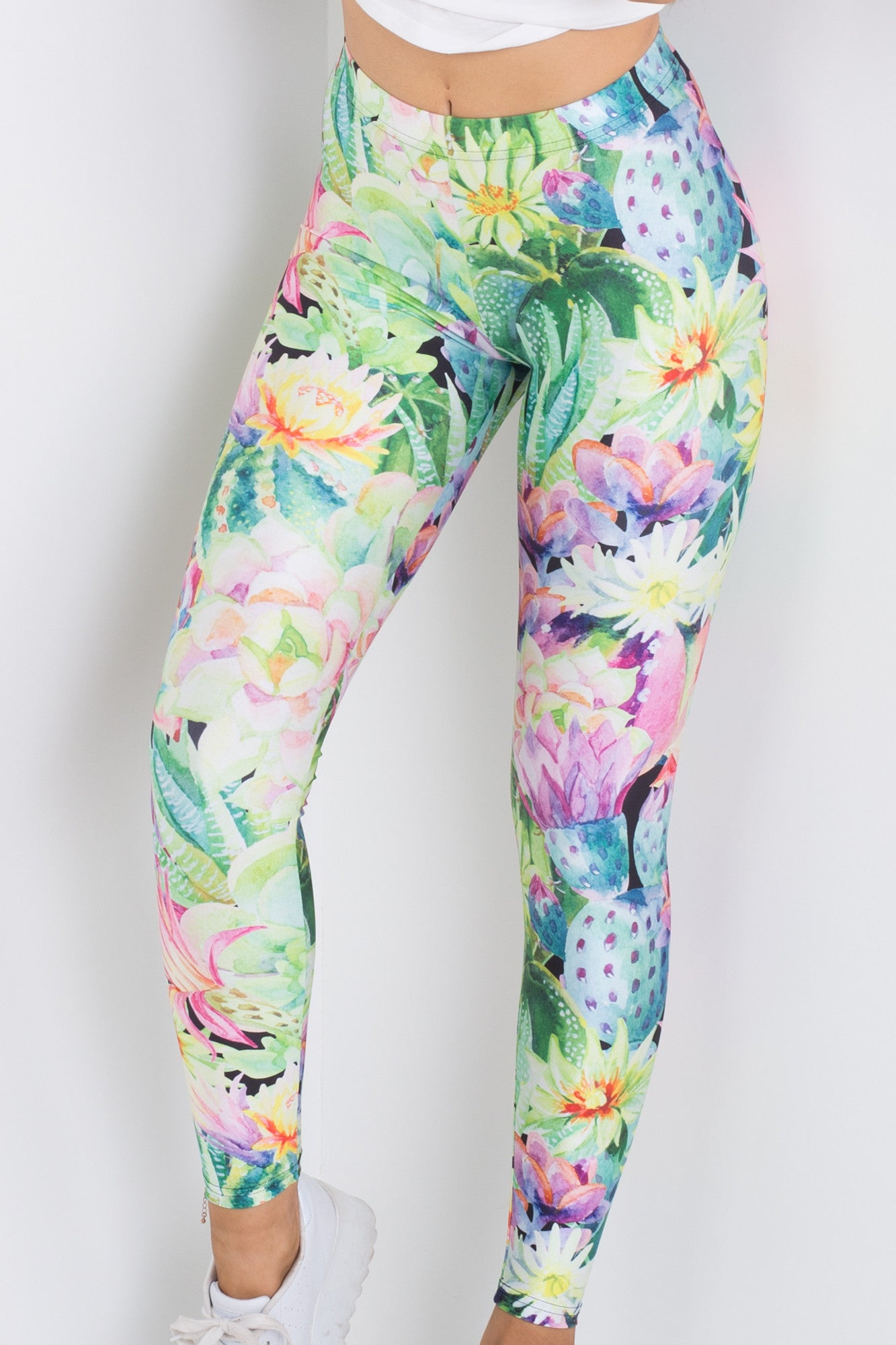 Watercolour Cacti Leggings