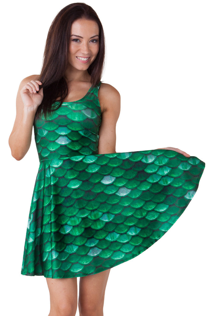 Green Mermaid Scale Skater - LIMITED