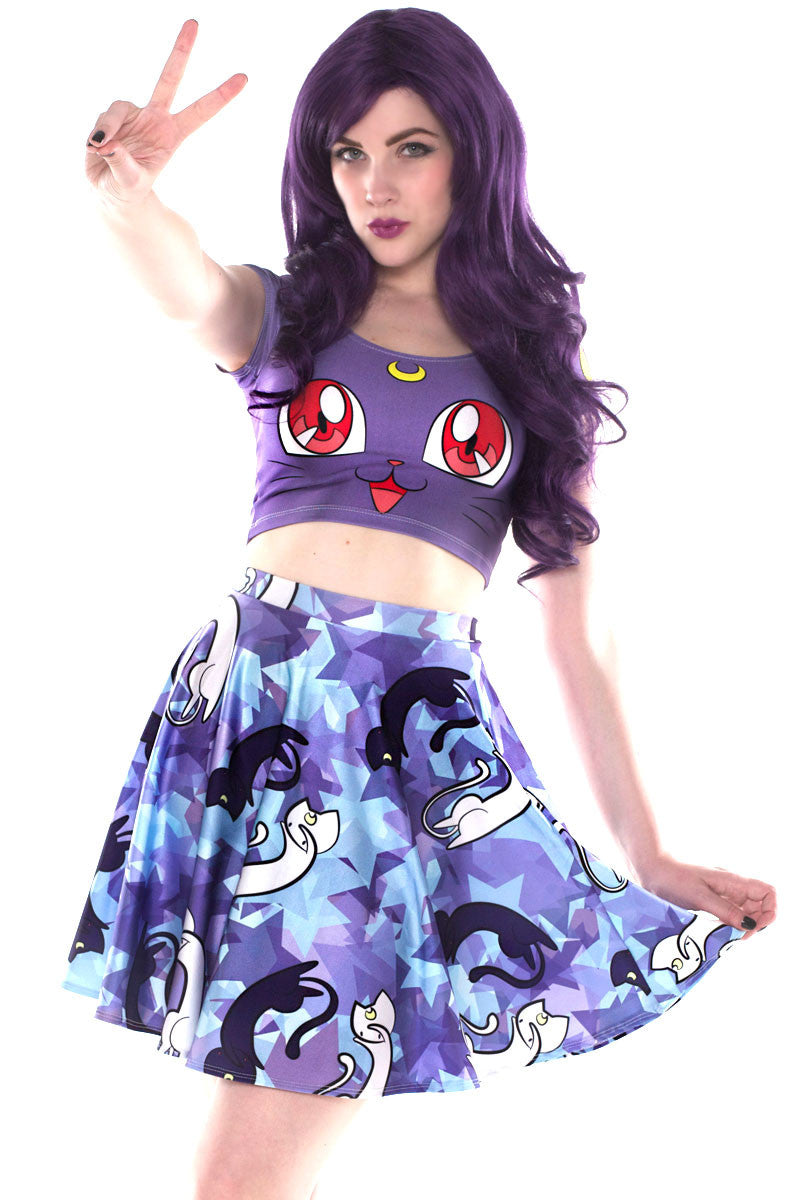 Moon Kitty Crop Top