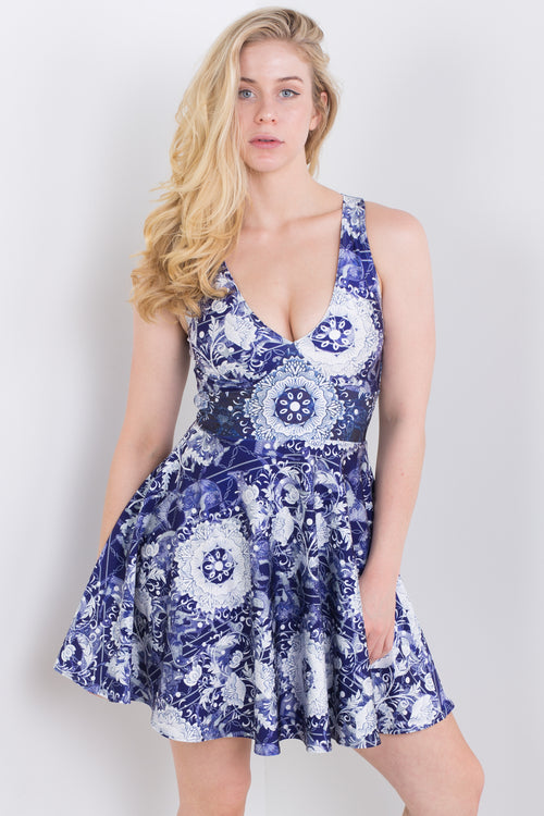 Sapphire Chinese Zodiac Happy Hour Dress