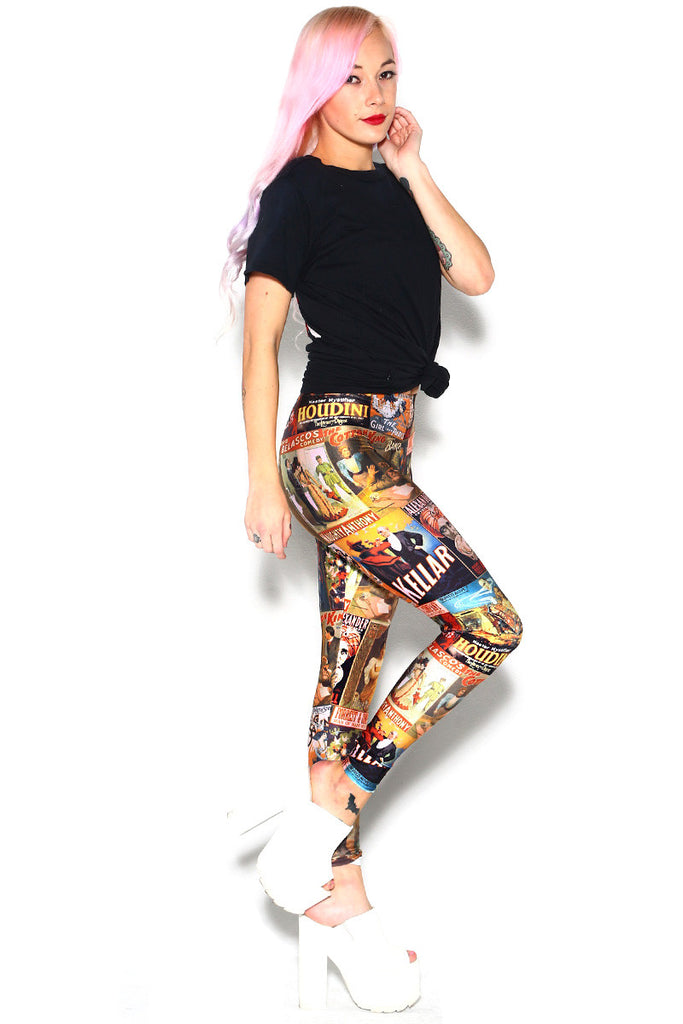Vintage Poster Leggings