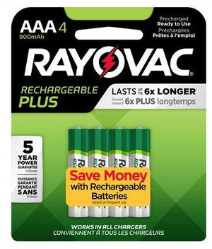 Rayovac Rechargeable AAA Batteries