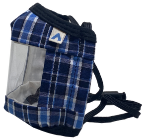 KIDS Window Communication Mask - Blue Plaid