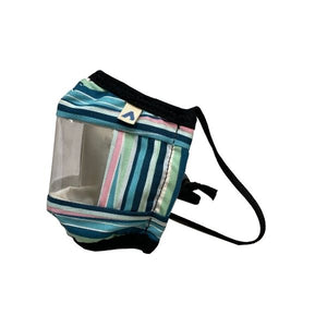 KIDS Window Communication Mask - Teal Stripes