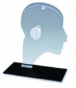 Acrylic Head with Ear Display