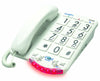 Clarity JV35W Amplified Telephone with White Keys