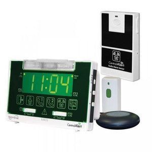 Serene Innovations CentralAlert CA-360 Alarm Clock with Audio Sensor CA-AX Bundle