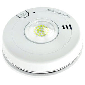 BRK Hardwired Photoelectric T3 Smoke Alarm and LED Strobe with 10-Year Battery Back-up