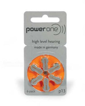 Power One Hearing Aid Battery P13