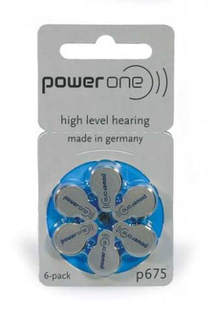 Power One Hearing Aid Battery P675