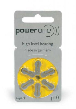 Power One Hearing Aid Battery P10