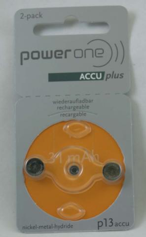 PowerOne ACCU plus Rechargeable Battery P13