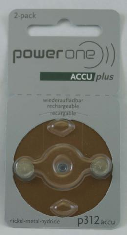 PowerOne ACCU plus Rechargeable Battery - P312