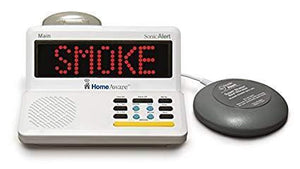 The HomeAware Fire/CO Alert- + internal Smoke/ CO listener with Bedshaker (NO DOORBELL)