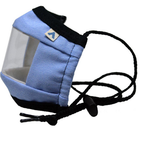 KIDS Window Communication Mask - Blue Oxford