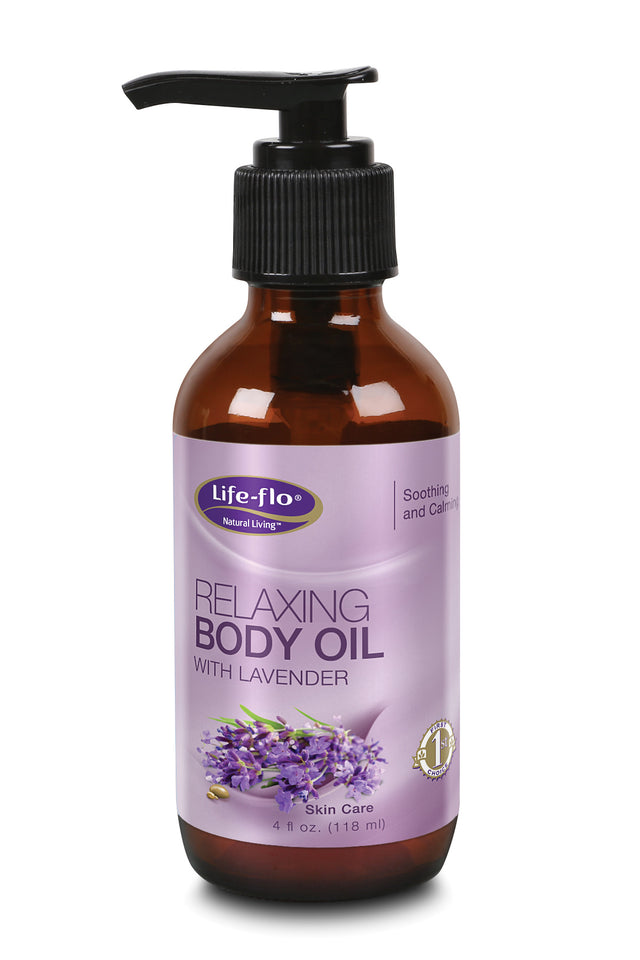 Relaxing Body Oil W/lavender - 4 fl ounces