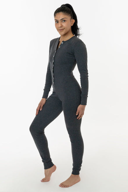 4390 - Poly Cotton Rib Henley Onesie