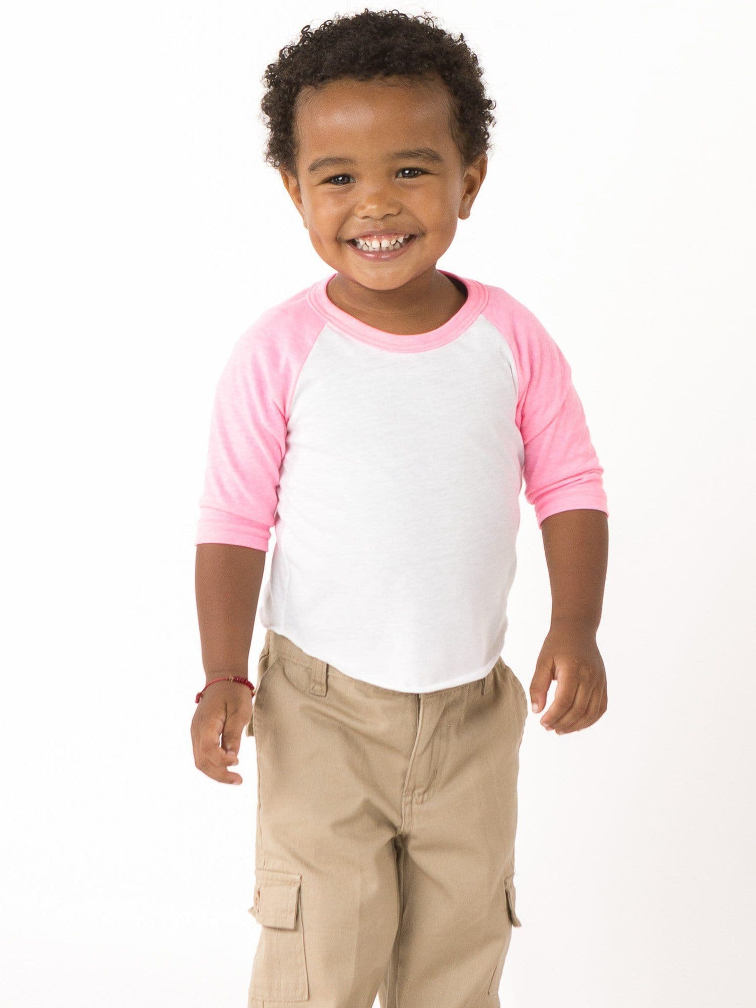 FF0053 - Infant 3/4 Sleeve Poly Cotton Raglan