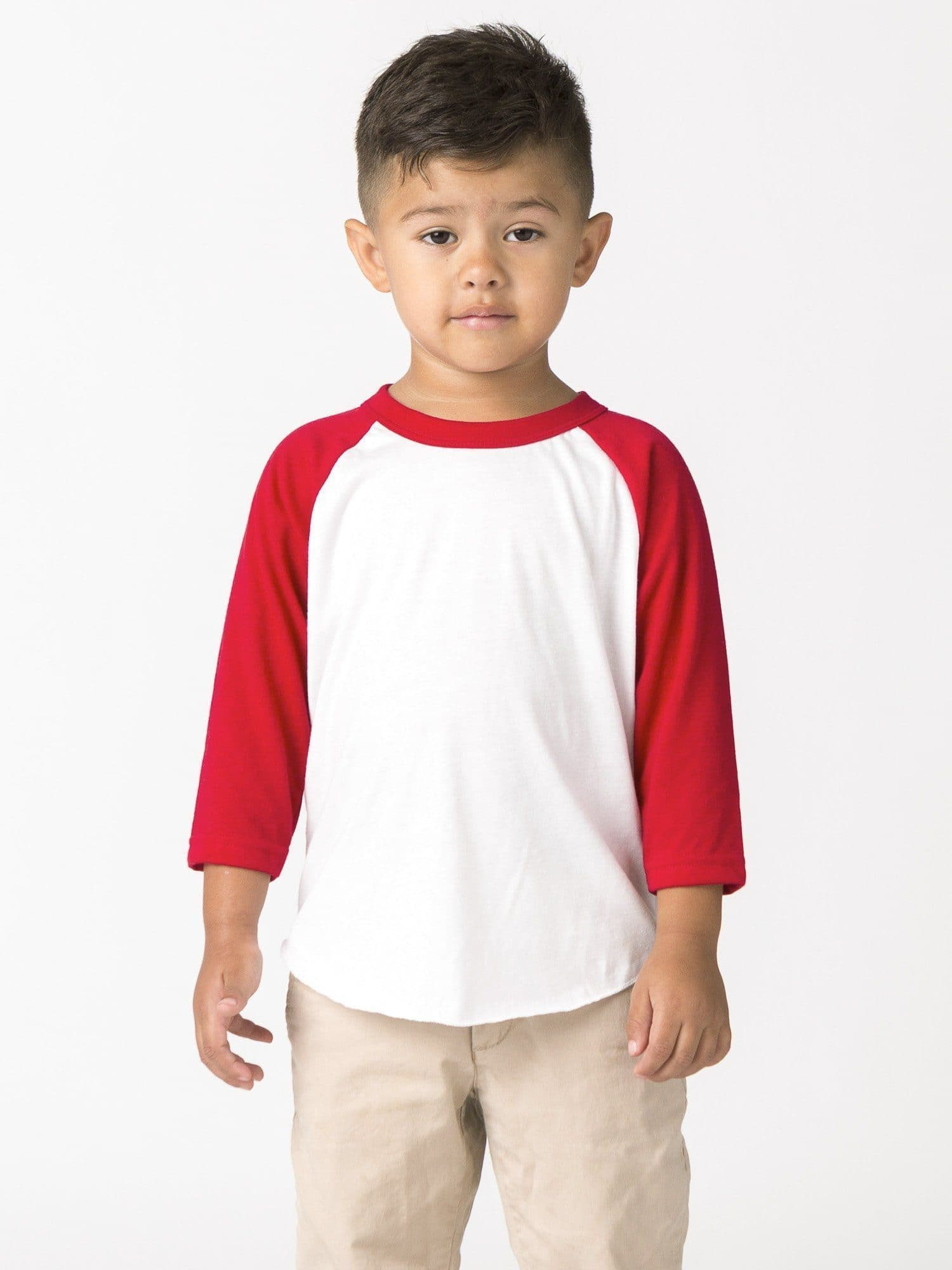FF1053 - Toddler 3/4 Sleeve Poly Cotton Raglan