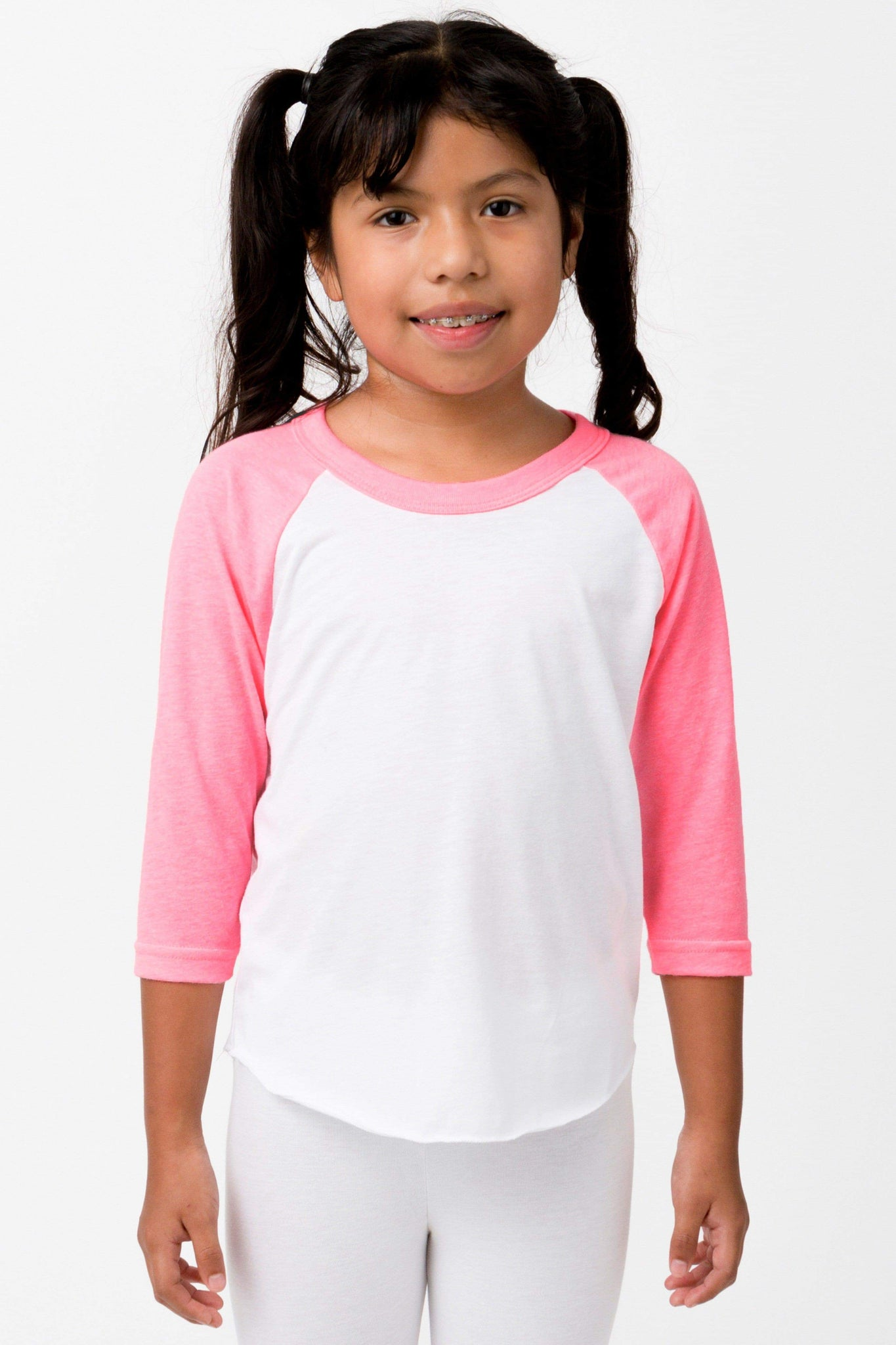 FF2053 - Youth 3/4 Sleeve Poly Cotton Raglan