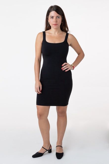 83081GD - Garment Dye Cotton Spandex Tank Dress