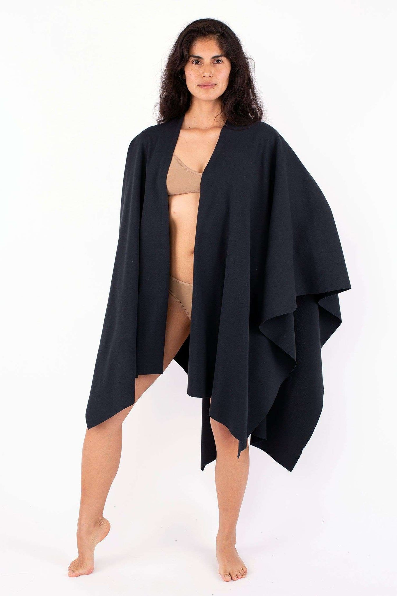 RHFR399GD - Heavy Cotton Rib Poncho