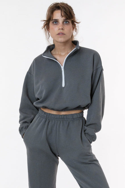 F396 - Flex Fleece Half Zip Cropped Pullover