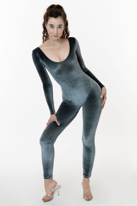 VVT228 - Velvet Long Sleeve Unitard