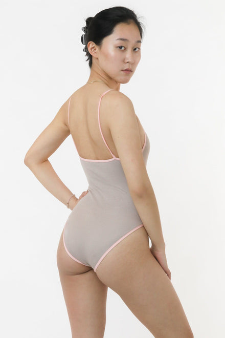 B112RIB - Ribbed Contrast Bra Bodysuit (Limited Edition)