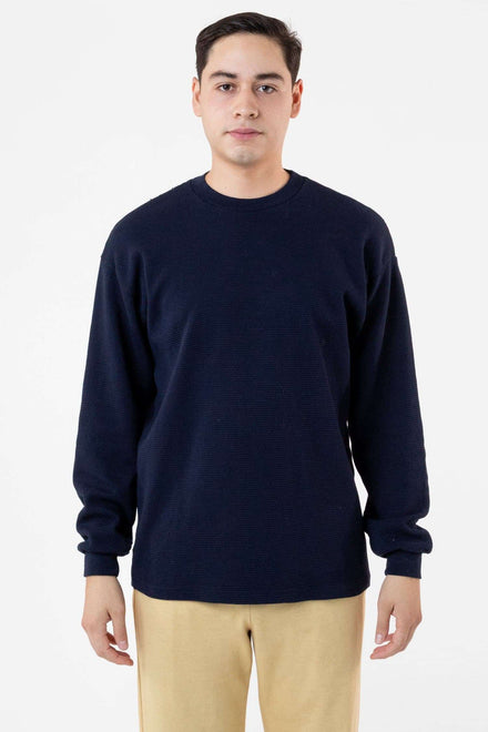 TX407GD Mix - Long Sleeve Heavy Thermal Crew Neck