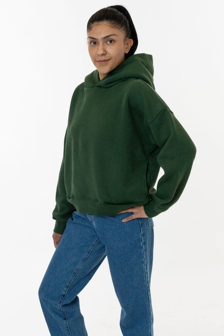 WF369GD - Puffy Heavyweight Fleece Cropped Hoodie