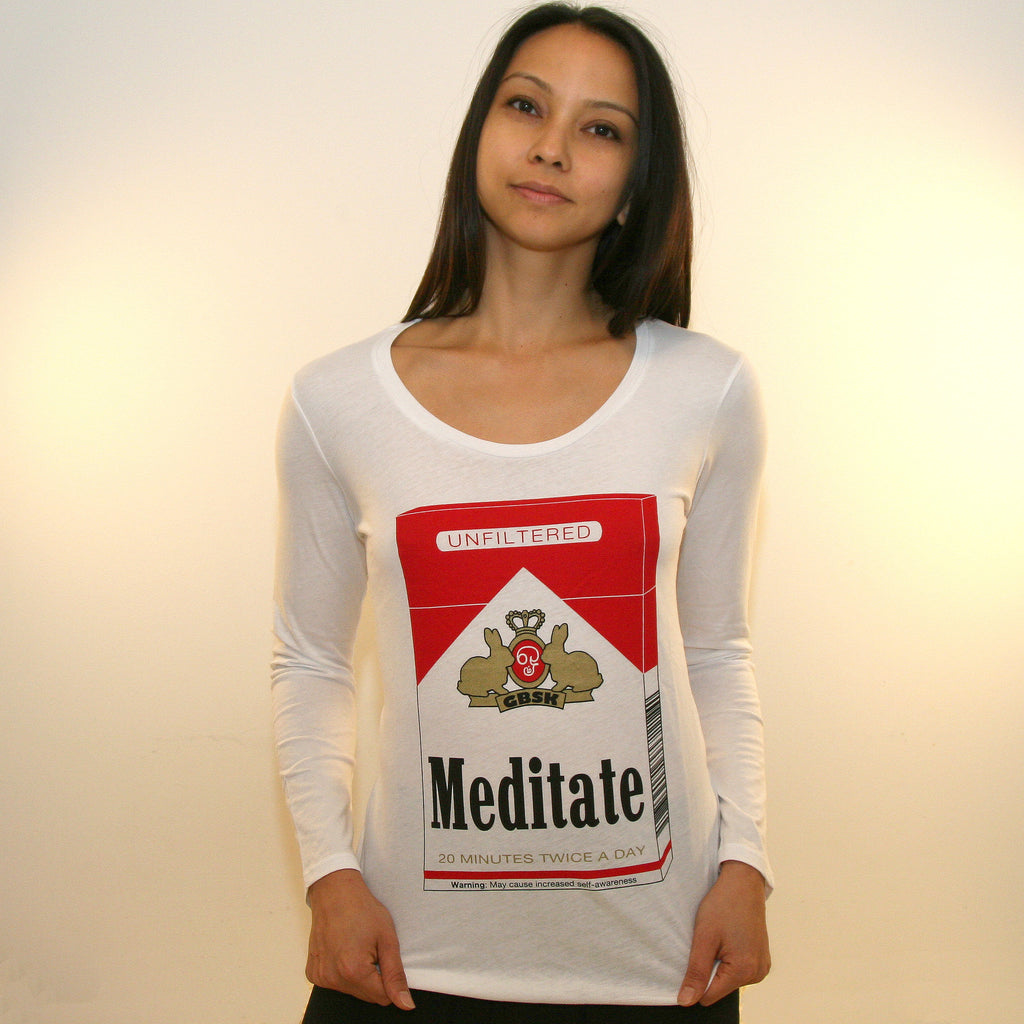 Meditate ~ Women's Long SleeveTee