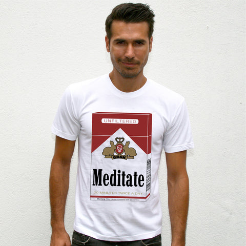 Meditate~ Men's Fine Jersey Crew Neck Tee