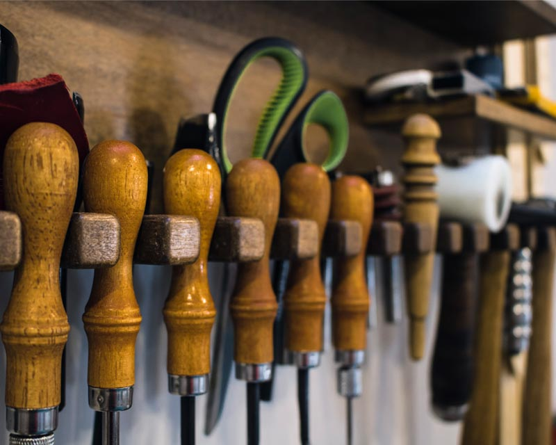 leather tool wall