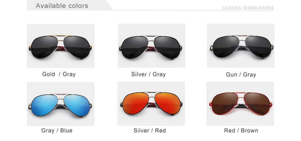 Men Vintage Aluminum HD Polarized Sunglasses
