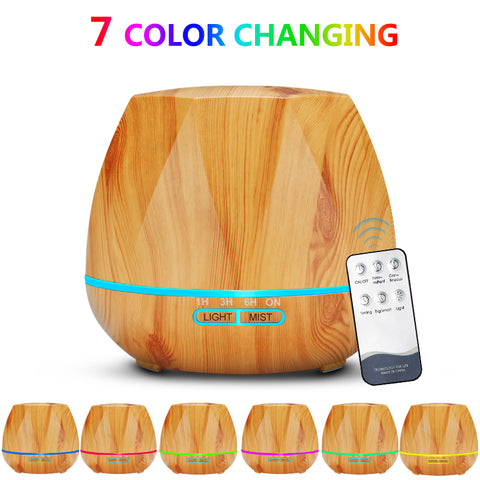Image of 500ML Remote Control Air Humidifier Essential Oil Diffuser