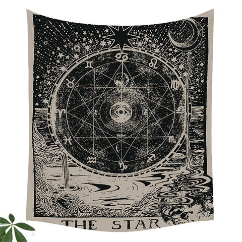 Tarot Design Wall Hanging Tapestry