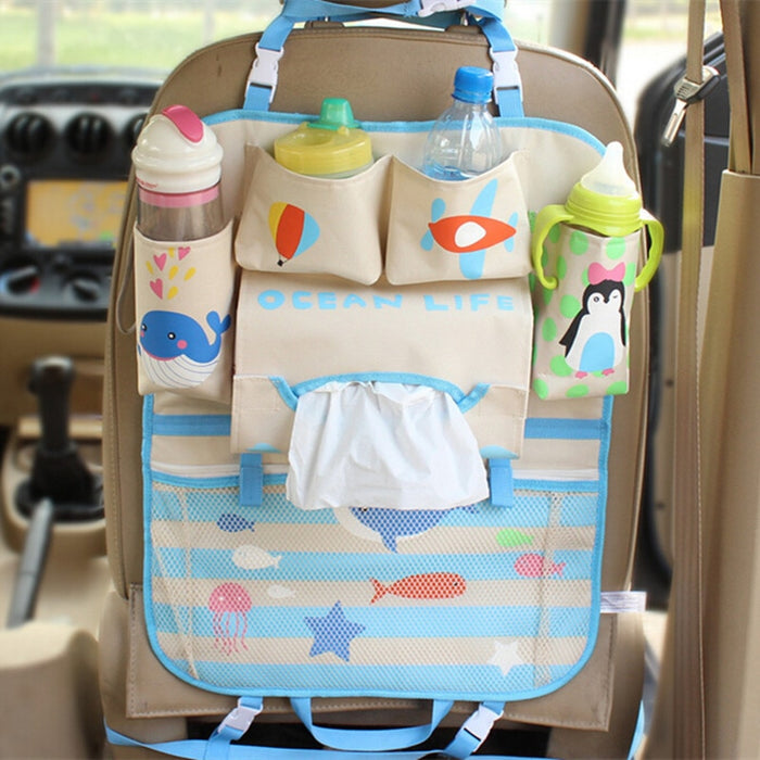 Cartoon Diaper Baby Bag Car Seat Organizer