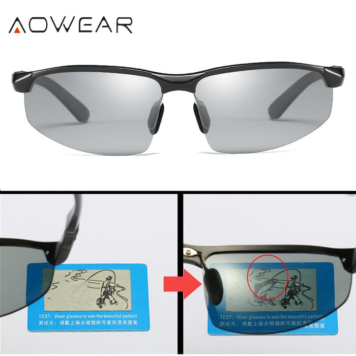 Men Polarized Photochromic Sunglasses