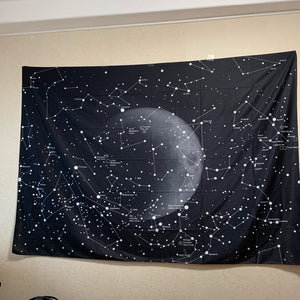 Psychedelic Constellation Galaxy Space Pattern Wall Hanging Tapestry