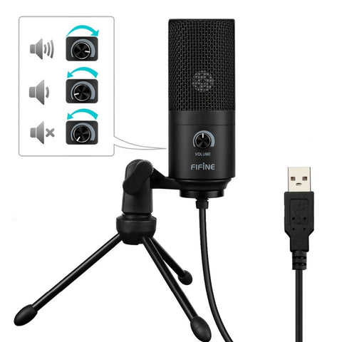 Metal USB Condenser Recording Microphone For Laptop And Desktop Computers