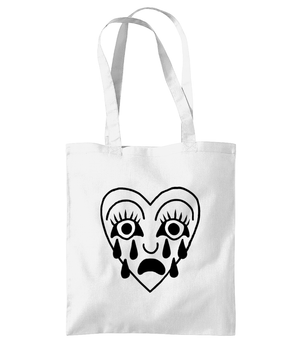 Open image in slideshow, Crying Heart Printed Tote Bag
