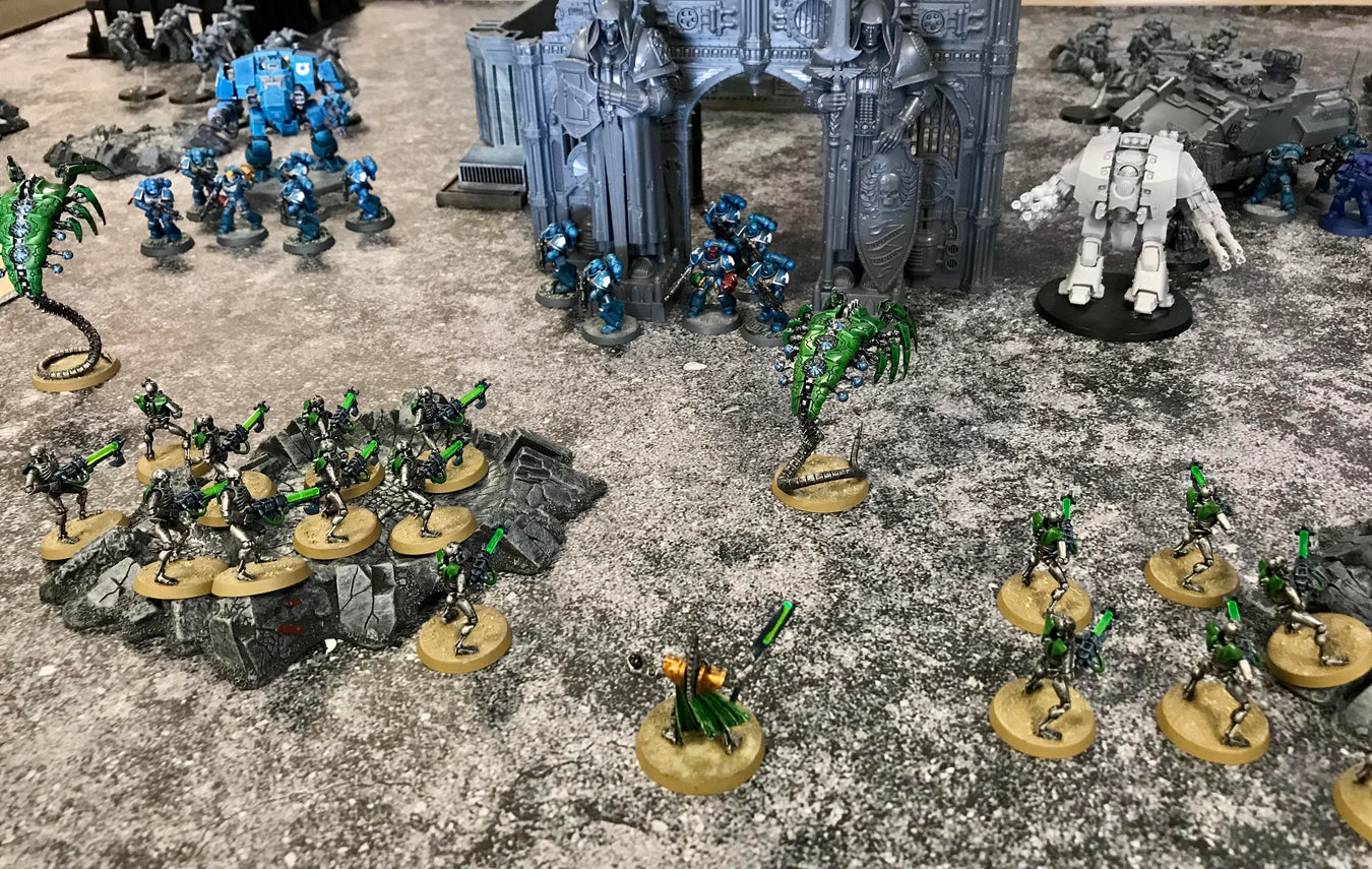 Games Workshop Warhammer 40K Ultramarine Space Marines versus Necrons @ Cobalt Comics & Collectibles