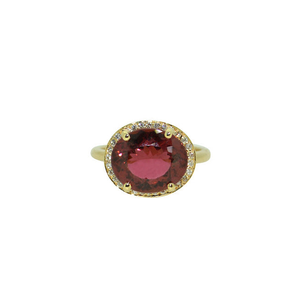 red tourmaline and diamond dynasty ring
