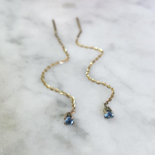 Aquamarine Thread Earrings