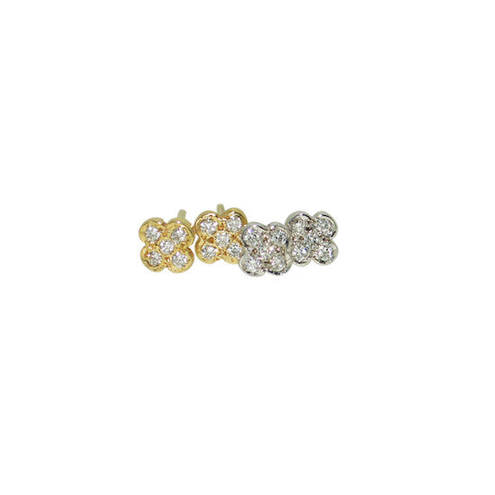 Diamond Daisy Studs